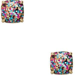 Kate Spade Mini Multi Glitter Square Stud Earrings